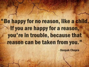 Deepak Chopra quote about being happy